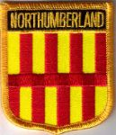 Northumberland Embroidered Flag Patch, style 07.